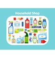 Household shop icon set vector image vector image