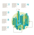 infographic made of colorful buildings vector image