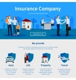 Insurance Company One Page Website vector image vector image