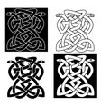 Intricate intertwined snakes emblem vector image