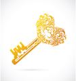 Key with heart shape vector image vector image