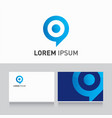 Logo company card target vector | Price: 1 Credit (USD $1)