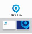 logo company card target vector image vector image
