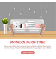modern sofa isolated furniture icon design vector image vector image