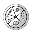 nutrition infographic isolated icon vector image