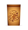 packaging for coffee template vector image vector image