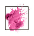 pink colorful watercolor hand drawn stroke vector image vector image
