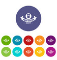 quality pure water icons set color vector image vector image