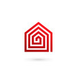 real estate house logo icon design template vector image vector image