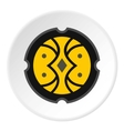 Round battle shield icon flat style vector image vector image