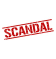 scandal stamp vector image vector image