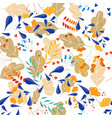 seamless pattern of floral vector image vector image
