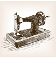 Sewing machine sketch style vector image vector image