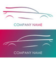 silhouette car on white and multicolor background vector image vector image