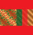 simple geometric xmas repeatable pattern set vector image