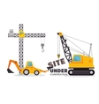 site under construction equipment graphic vector image vector image