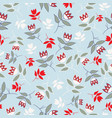 sky blue winter folk florals seamless pattern vector image vector image