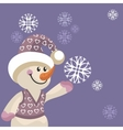 Snowman color 12 vector image vector image