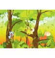 Squirrel forest vector image vector image