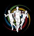 start running marathon runner vector image vector image