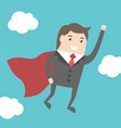 super businessman flying vector image vector image