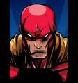 superhero portrait at night vector image