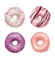 sweet delicious hand drawn donut vector image vector image