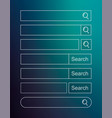 template search bar on blue background vector image