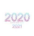 text design christmas and happy new year 2020 vector image