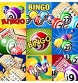 The set of bingo designes vector image vector image