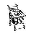 trolley icon doodle hand drawn or outline icon vector image vector image
