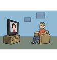 TV watcher vector image vector image