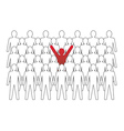 Unusual person in the crowd concept vector image vector image