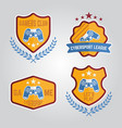 video gamers club labels or emblems isolated vector image