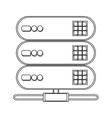 web hosting icon vector image