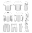 white men's clothing set vector image vector image