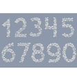 White Snowy numbers vector image vector image
