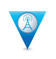 wi fi icon map pointer blue vector image vector image