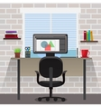 Workspace For Designer Composition vector image vector image