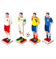 world cup football group vector image vector image