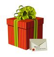 Xmas gift box vector image
