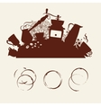 Coffee abstraction vector image