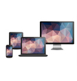 Set of realistic display laptop tablet computer vector image
