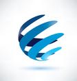 abstract globe symbol vector image
