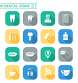 Set of dental icons Silhouette Flat design vector image