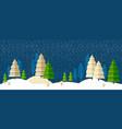 winter wonderland night background vector image