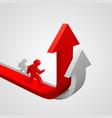 arrow red business growth art info
