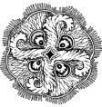 Aurelia insulinda jelly fish vector image vector image