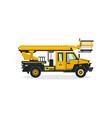 autotower commercial transport construction vector image
