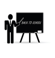back to school with teacher black vector image